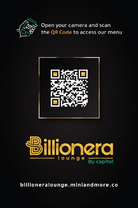 Billionera Lounge QR Menu