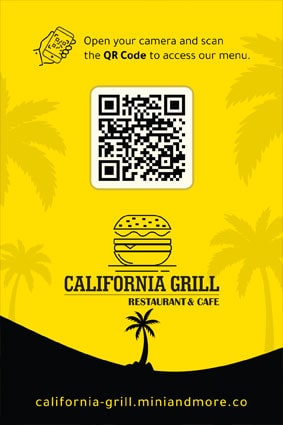 California Grill QR Menu