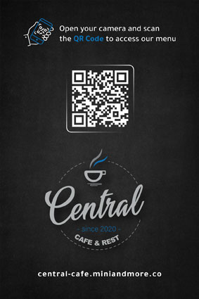 Central Cafe QR Menu